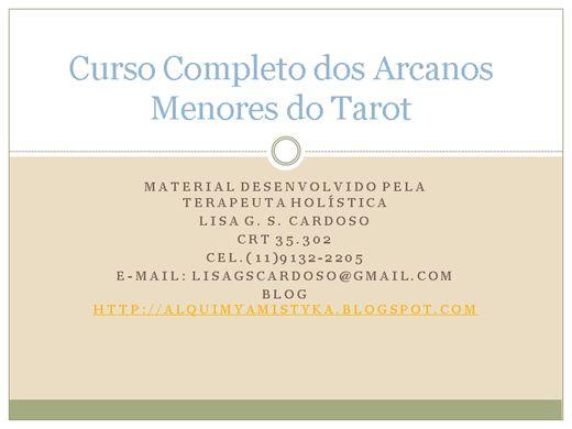 Curso Online de Arcanos Menores do Tarot