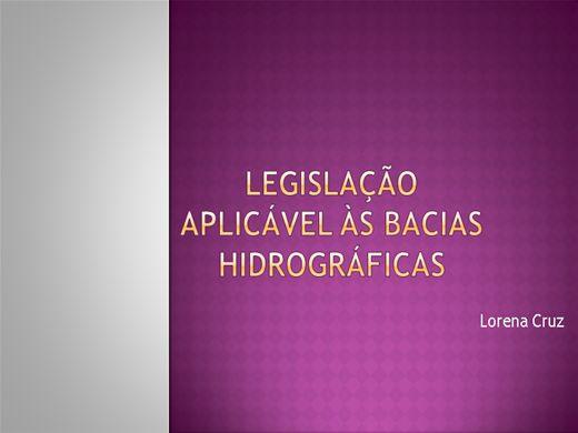Curso Online de Legislação aplicada às Bacias Hidrográficas