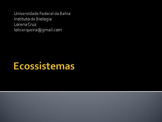 Curso Online de Ecologia de Ecossistemas