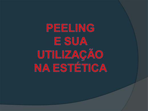 Curso Online de PEELING E SUA UTILIZAÇÃO NA ESTÉTICA
