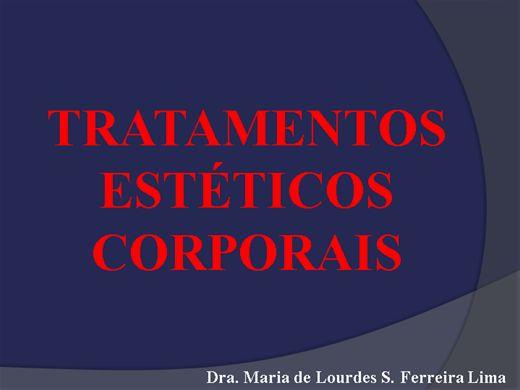 Curso Online de TRATAMENTOS ESTÉTICOS CORPORAIS