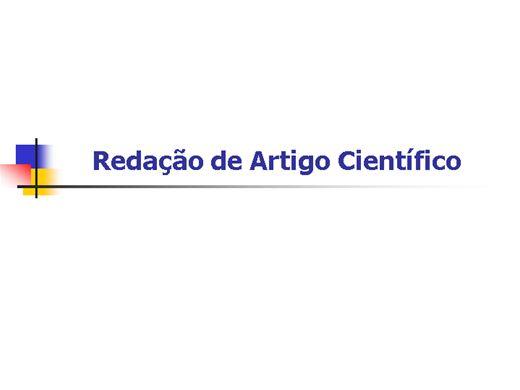 Curso Online de metodologia para redação de artigo científico