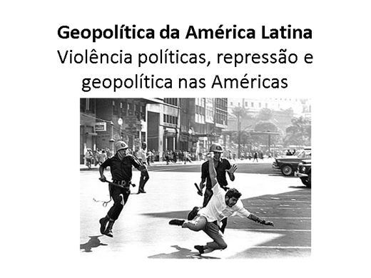 Curso Online de GEOPOLÍTICA NA AMERICA LATINA