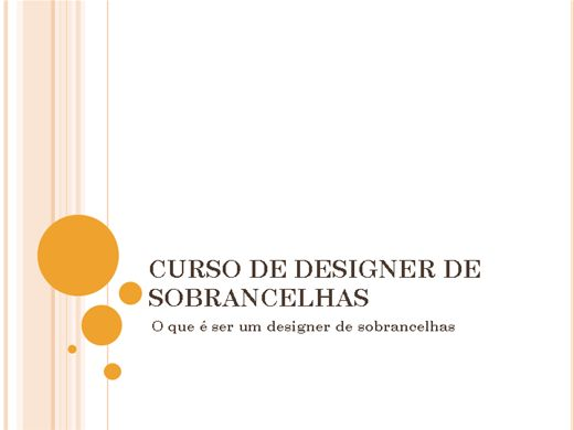 Curso Online de Designer de sobrancelhas