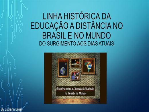 Curso Online de A História da EAD no Brasil e no Mundo: Do surgimento aos dias atuais.