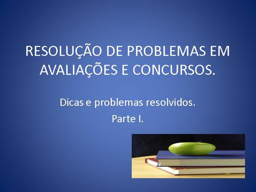 Curso Online de Resolução de problemas em avaliação e concursos parte 1