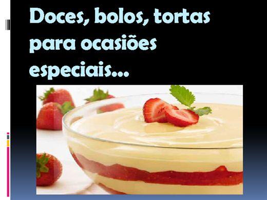 Curso Online de Doces, bolos, tortas para ocasiões especiais...