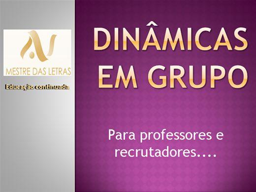 Curso Online de Dinâmicas para professores e recrutadores