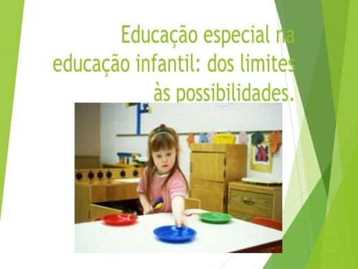 Curso Online de Educação especial na educação infantil: dos limites às possibilidades.