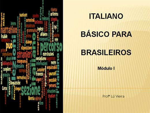 Curso Online de Italiano Básico para Brasileiros - módulo I
