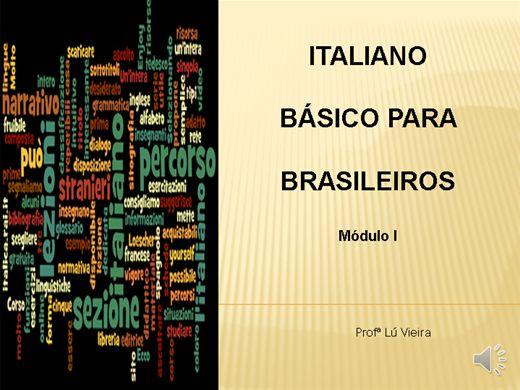 Curso Online de Italiano Básico para Brasileiros - módulo 1 (com áudio)