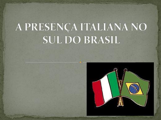 Curso Online de A PRESENÇA ITALIANA NO SUL DO BRASIL