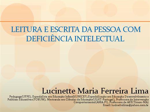 Curso Online de Leitura e Escrita da Pessoa com Deficiência Intelectual