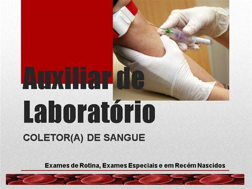 Curso Online de Auxiliar de Laboratório Coletor(a) de Sangue