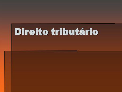 Curso Online de CURSO COMPLETO DE DIREITO TRIBUTÁRIO