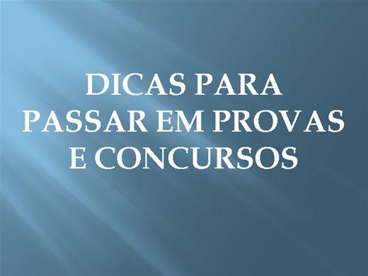 Curso Online de DICAS PARA APROVAÇÃO EM PROVAS E CONCURSOS