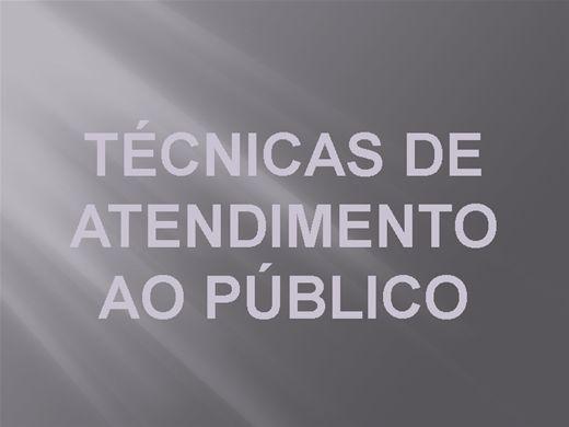 Curso Online de TÉCNICAS DE ATENDIMENTO AO PÚBLICO