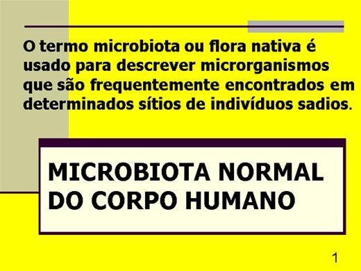 Curso Online de MICROBIOTA NORMAL