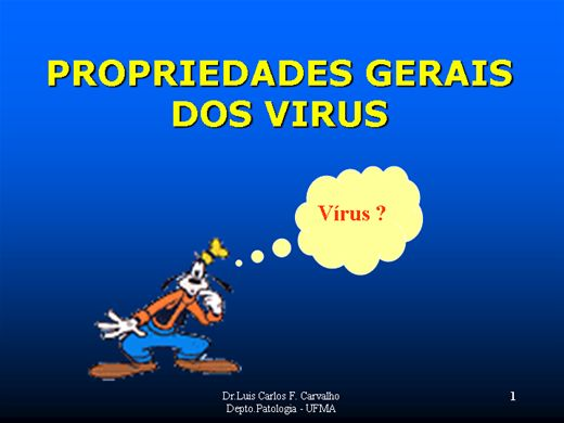 Curso Online de PROPRIEDADES GERAIS DOS VIRUS