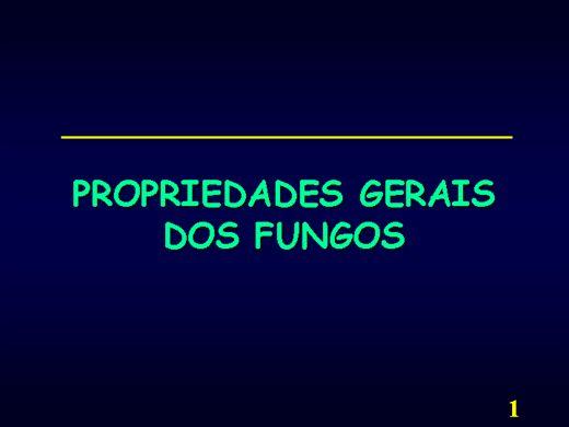 Curso Online de PROPRIEDADES GERAIS DOS FUNGOS