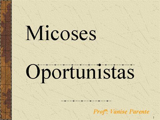 Curso Online de MICOSES OPORTUNISTAS