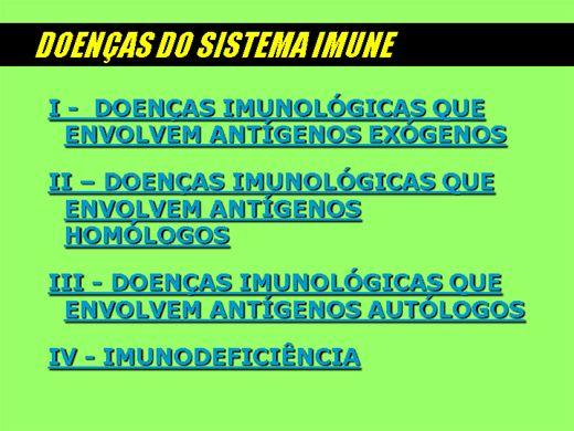 Curso Online de DOENÇAS DO SISTEMA IMUNOLÓGICO