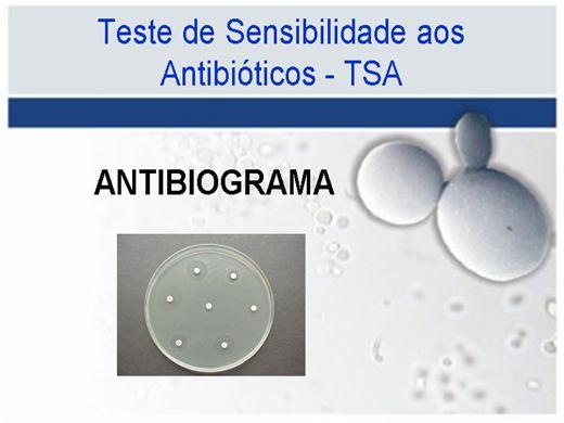 Curso Online de Testes de Susceptibilidade aos Antibióticos - TSA