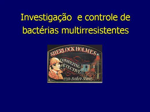 Curso Online de Investigação  e controle de  bactérias multirresistentes