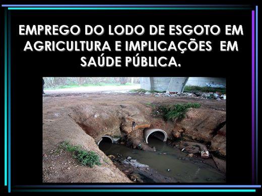 Curso Online de EMPREGO DO LODO DE ESGOTO EM AGRICULTURA E IMPLICAÇÕES  EM SAÚDE PÚBLICA