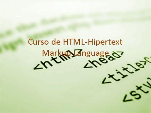 Curso Online de Linguagem HTML