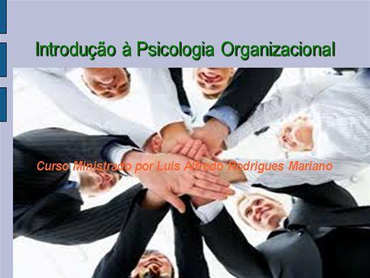 Curso Online de Introdução à Psicologia Organizacional