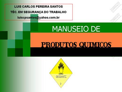 Curso Online de MANUSEIO COM PRODUTOS QUÍMICOS