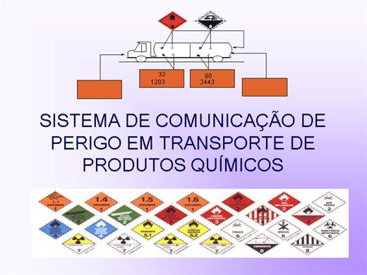 Curso Online de SISTEMA DE COMUNICAÇÃO DE PERIGO EM TRANSPORTE DE PRODUTOS QUÍMICOS