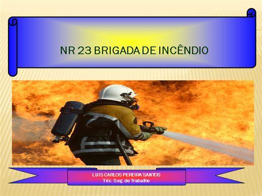Curso Online de BRIGADISTA COMPLETO NR 23