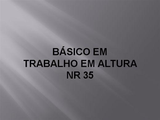 Curso Online de NR 35 BÁSICO EM TRABALHO EM ALTURA