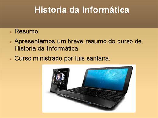 Curso Online de HISTORIA DA INFORMATICA