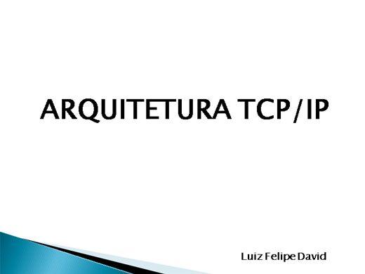 Curso Online de Arquitetura TCP/IP