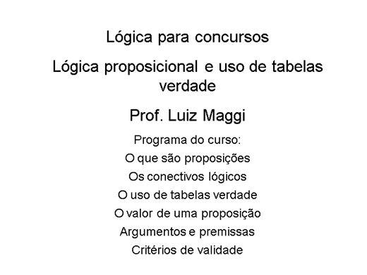 Curso Online de Lógica para Concursos - Fácil