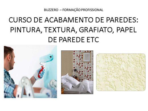 Curso Online de CURSO DE ACABAMENTO DE PAREDES: PINTURA, TEXTURA, GRAFIATO, PAPEL DE PAREDE ETC