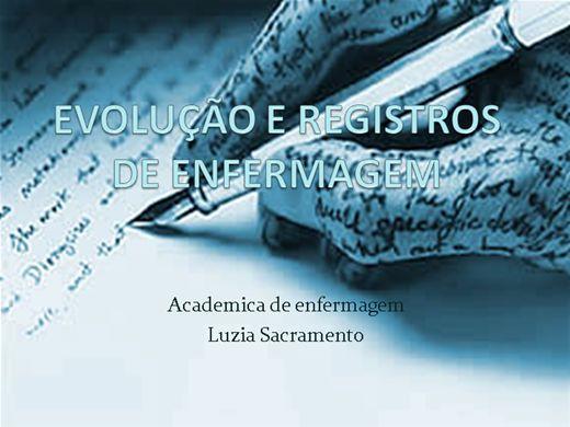 Curso Online de EVOLUCAO+REGISTROS DE ENFERMAGEM