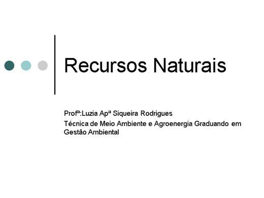 Curso Online de Recursos renovavéis