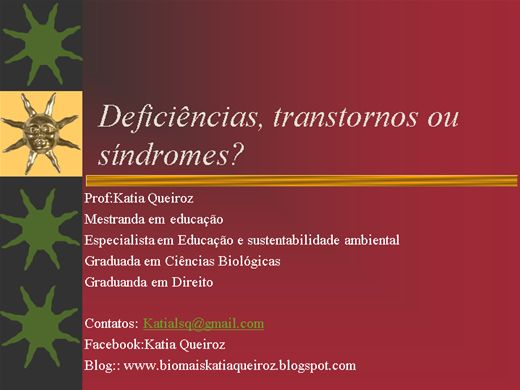 Curso Online de Síndromes, transtornos e deficiências