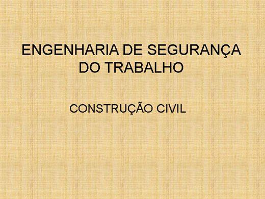 Curso Online de ENGENHARIA DE SEGURANÇA DO TRABALHO - CONSTRUÇÃO CIVIL