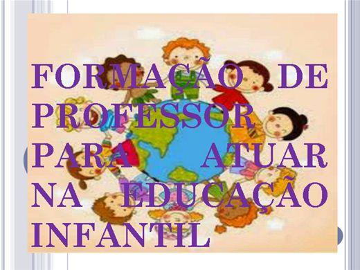 Curso Online de Formação de Professor Para Atuar na Educação Infantil