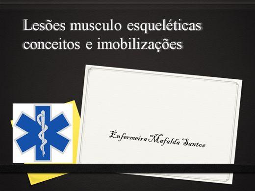 Curso Online de lesões músculo esqueléticas conceitos e imobilizações