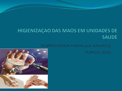 Curso Online de HIGIENIZAÇAO DAS MAOS EM UNIDADES DE SAUDE