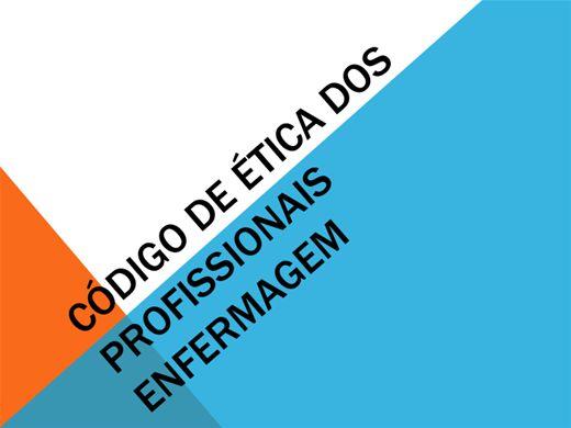Curso Online de Código de ètica dos Profissionais em Enfermagem