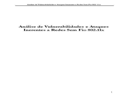 Curso Online de Análise de Vulnerabilidades e Ataques Inerentes a Redes Sem Fio
