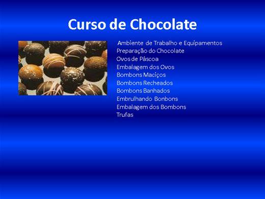 Curso Online de Curso de chocolate