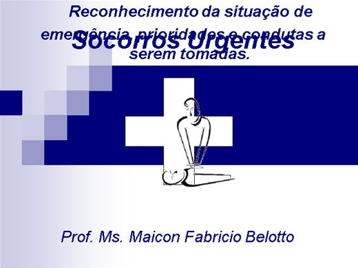 Curso Online de Socorros Urgentes em Ed. Física
